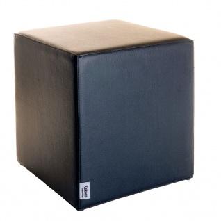 Sitzwürfel Schwarz Maße: 43 cm x 43 cm x 48 cm
