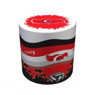 Sitzhocker WM Türkei Turkey Maße: Ø 34 cm x 44 cm