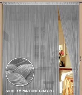 Fadenvorhang 90 cm x 240 cm (BxH) silber