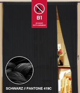 Fadenvorhang 100 cm x 300 cm (BxH) schwarz in B1 schwer entflammbar