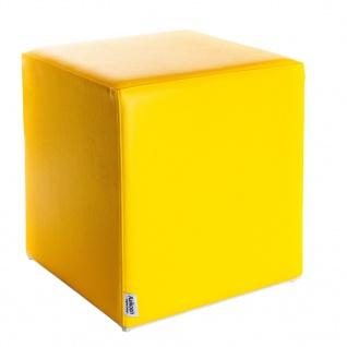 Sitzwürfel Gelb Maße: 43 cm x 43 cm x 48 cm