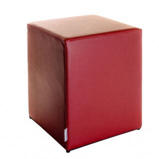 Sitzwürfel Bordeaux Maße: 35 cm x 35 cm x 42 cm