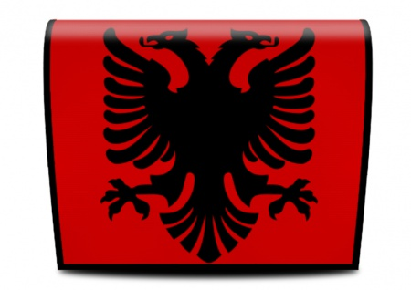 Cover für Koala-Bag Tasche Albanisch Flagge