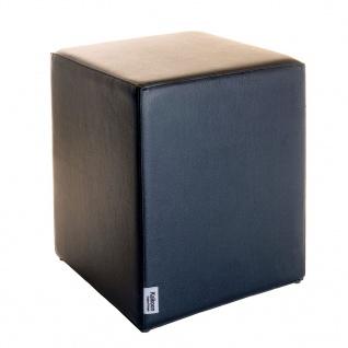 Sitzwürfel Schwarz Maße: 35 cm x 35 cm x 42 cm