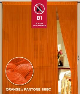 Fadenvorhang 090 cm x 240 cm (BxH) orange in B1 schwer entflammbar