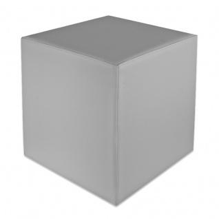 Sitzwürfel Hellgrau Maße: 43 cm x 43 cm x 48 cm