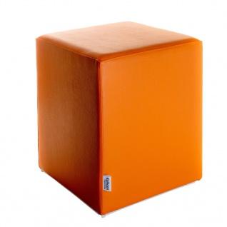 Sitzwürfel Orange Maße: 35 cm x 35 cm x 42 cm