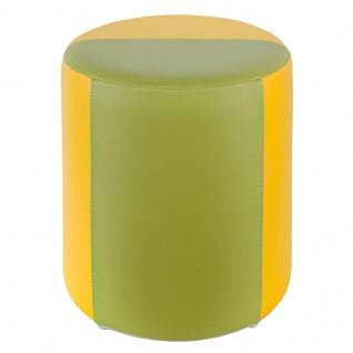 Sitzhocker 2-farbig gelb-hellgrün Ø34 x 44cm