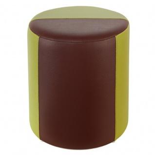 Sitzhocker 2-farbig hellgrün-braun Ø34 x 44cm
