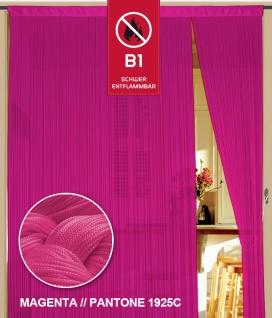 Fadenvorhang 090 cm x 240 cm (BxH) magenta in B1 schwer entflammbar