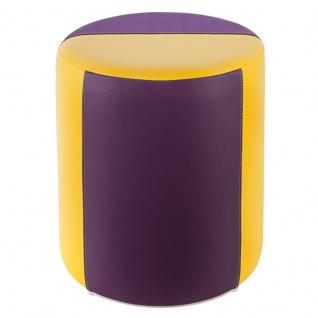Sitzhocker 2-farbig gelb-lila Ø34 x 44cm