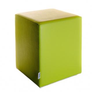 Sitzwürfel Hellgrün Maße: 35 cm x 35 cm x 42 cm