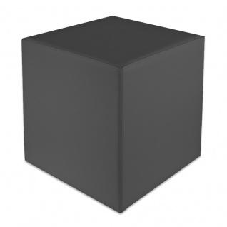 Sitzwürfel Dunkelgrau Maße: 43 cm x 43 cm x 48 cm