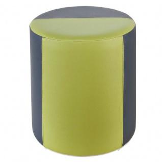 Sitzhocker 2-farbig dunkelgrau-hellgrün Ø34 x 44cm