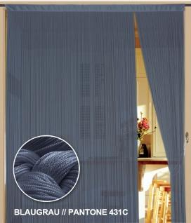 Fadenvorhang 090 cm x 240 cm (BxH) blaugrau