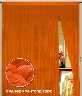 Fadenvorhang 90 cm x 240 cm (BxH) orange