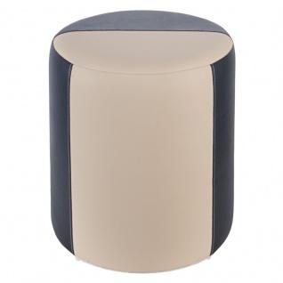 Sitzhocker 2-farbig schwarz-creme Ø34 x 44cm