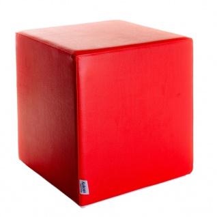 Sitzwürfel rot Maße: 43 cm x 43 cm x 48 cm