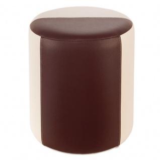 Sitzhocker 2-farbig creme-braun Ø34 x 44cm