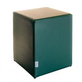Sitzwürfel Dunkelgrün Maße: 35 cm x 35 cm x 42 cm
