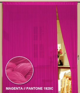 Fadenvorhang 90 cm x 240 cm (BxH) magenta