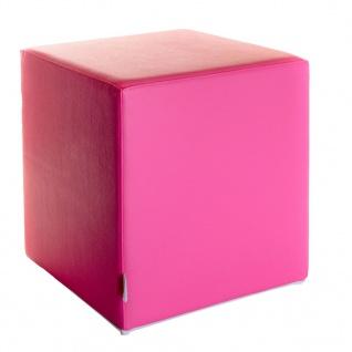 Sitzwürfel Pink Maße: 43 cm x 43 cm x 48 cm
