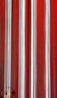 Fadenvorhang Rot-Weiß-Rot 090 cm x 240 cm