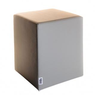 Sitzwürfel Hellgrau Maße: 35 cm x 35 cm x 42 cm