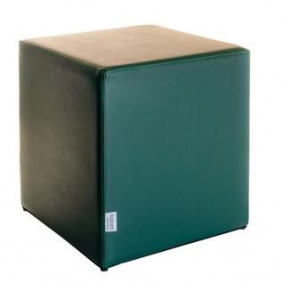 Sitzwürfel Dunkelgrün Maße: 43 cm x 43 cm x 48 cm