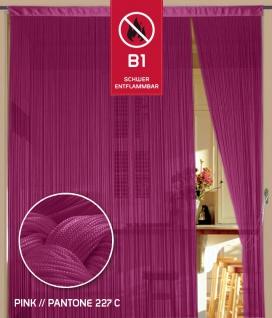 Fadenvorhang 90 cm x 240 cm pink in B1 schwer entflammbar