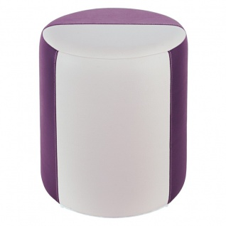 Sitzhocker 2-farbig lila-weiß Ø34 x 44cm