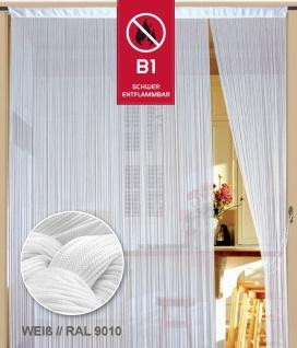 Fadenvorhang 200 cm x 500 cm (BxH) weiß in B1 schwer entflammbar