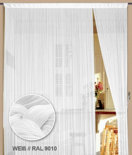 Fadenvorhang 400 cm x 200 cm (BxH) weiß