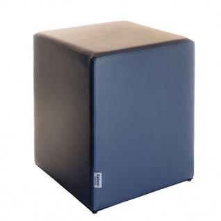 Sitzwürfel Dunkelgrau Maße: 35 cm x 35 cm x 42 cm
