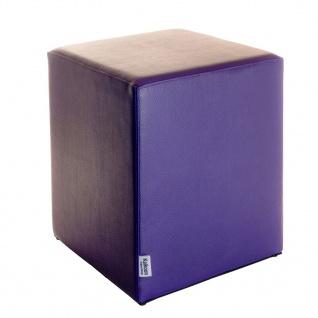 Sitzwürfel Lila Maße: 35 cm x 35 cm x 42 cm