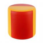 Sitzhocker 2-farbig gelb-rot Ø34 x 34cm