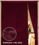 Fadenvorhang 90 cm x 240 cm (BxH) bordeaux
