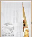 Fadenvorhang 300 cm x 300 cm (BxH) weiß