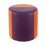 Sitzhocker 2-farbig orange-lila Ø34 x 34cm