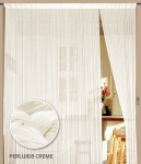 Fadenvorhang 090 cm x 240 cm (BxH) perlweiß creme