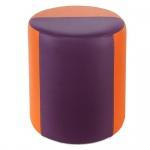 Sitzhocker 2-farbig orange-lila Ø34 x 44cm