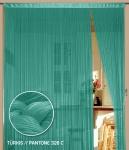 Fadenvorhang 090 cm x 240 cm (BxH) türkis