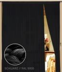 Fadenvorhang 150 cm x 300 cm (BxH) schwarz