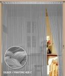 Fadenvorhang 150 cm x 300 cm (BxH) silber