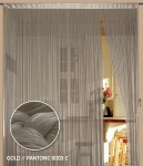 Fadenvorhang 150 cm x 300 cm (BxH) gold