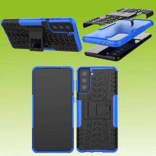 Für Samsung Galaxy S21 Plus G996B Outdoor Blau Handy Tasche Etuis Hülle Cover