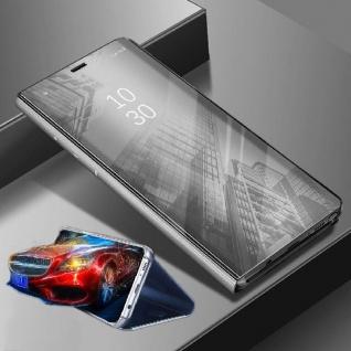 Für Xiaomi POCO Pocofone F1 Clear View Smart Cover Silber Tasche Hülle Wake UP