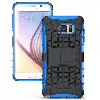 Hybrid Hülle 2 teilig Outdoor Blau Tasche für Samsung Galaxy Note 5 SM-N920 F