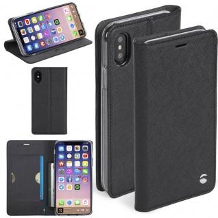 Krusell Malmö Tasche Folio für Apple iPhone X / XS 5.8 Tasche Schutz Hülle Black