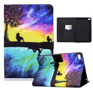 Für Apple iPad Mini 2 / 3 / 4 / 5 Motiv 3 Tablet Tasche Kunst Leder Hülle Etuis